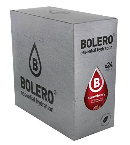 Bolero Bebida Instantánea sin Azúcar, Sabor Fresa - Paquete de 24 x 9 gr - Total: 216 gr