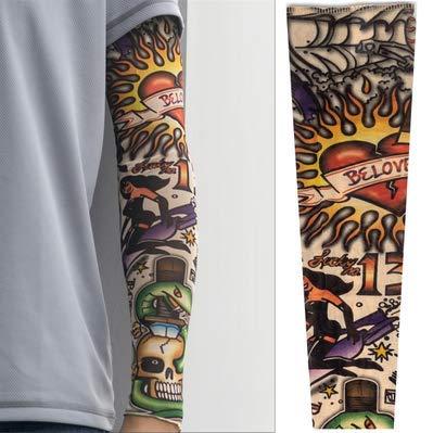 Manga del tatuaje Protector solar de verano Conducción Hombres y mujeres Tatuaje...