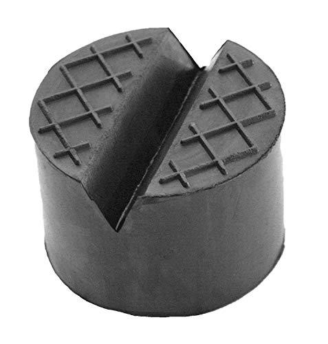 75x50mm Gummiauflage mit V-Nut/Waffel Gummi-Unterlage Auflage Wagen-Heber Hebebühne rund Auto Klotz Rangier-Wagenheber Puffer Reifen Reifenwechsel LKW Räder KFZ Tuning Zubehör