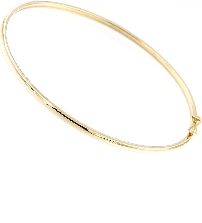 Lucchetta - Premium 14k Solid Gold Bangles for Women Teen Girls - Gold Bangle - 7