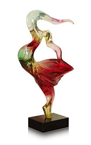 Außergewöhnliche abstrakte Skulptur aus transparentem gefärbtem Harz auf Marmorsockel. Höhe 71 cm x 41 cm