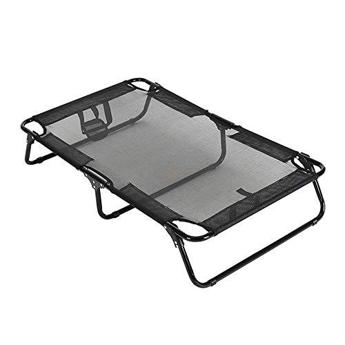 JIEUO Hundebett Sommer PET Erhöhtes Bett Komfortables Und Atmungsaktives Faltbares Hund Campingbett in Verschiedenen Größen,XL