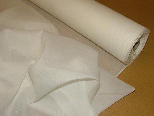 Pandoras Uph Tissu voilage en mousseline de coton Blanc 10 m