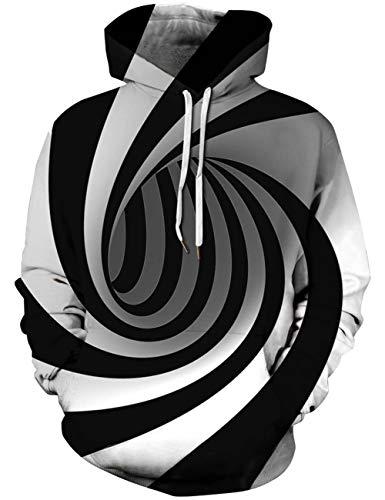 Goodstoworld Herren Damen 3D Kapuzenpullover Bunt Druck Langarm Hoodie Pullover Sweatshirt Kapuze Gedruckte Top Jungen XL