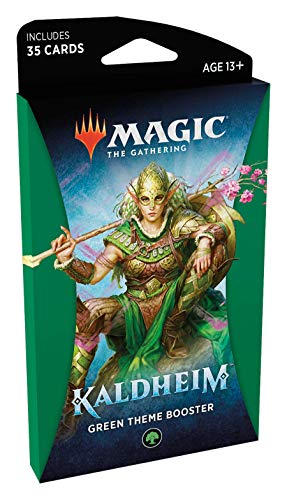 Magic The Gathering: Kaldheim| 35 cards, all based on a theme | Theme Booster Verde Unitário - Inglês
