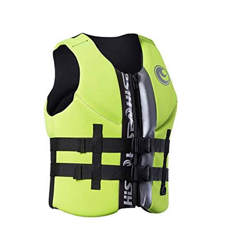 DBWIN Schwimmweste, Auftriebshilfe Jacke für Jollen Segelpaddel Boarding Kanadisches Kanu oder Kajak & ndash;Leichte Sicherheit Perfekt für die meisten Wassersportarten, Grün, XXXXL