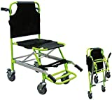 JYLT EMS Stair Chair - Ambulance Firefighter Evacuation Medical Lift Stair Chair with Quick Release Buckles and 4 Wheels