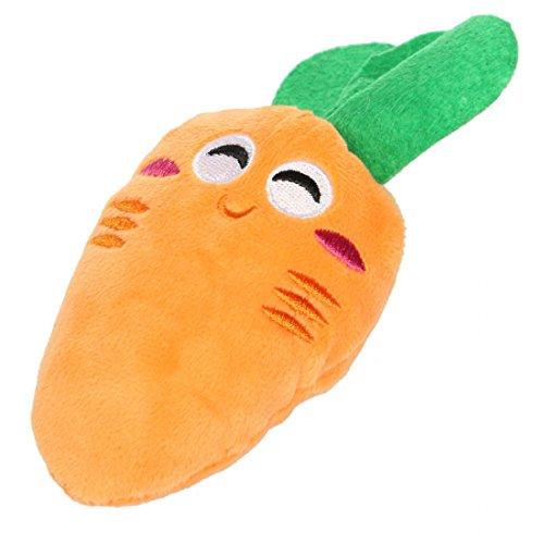 Kungfu Mall Chiot chat légumes carotte voix son jouet en peluche