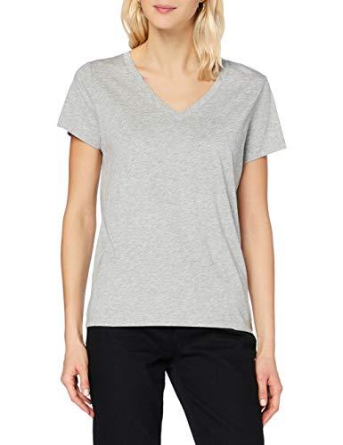 Lee V Neck tee Camiseta, Grey Mele, L para Mujer