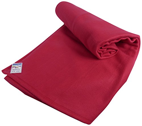 Couverture polaire thermotec 450 grs- Moelleuse et Chaude - 100% polyester - OURSON - Framboise L5 - 220 x 240