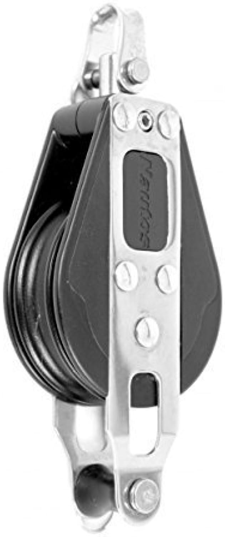 NAUTOS   92221-classic Line 57mm–Doppeltes Drehgelenk mit becket- 57mm sheave-long dauerhaften Eigenschaften. SegelStiefel Block von NAUTOS