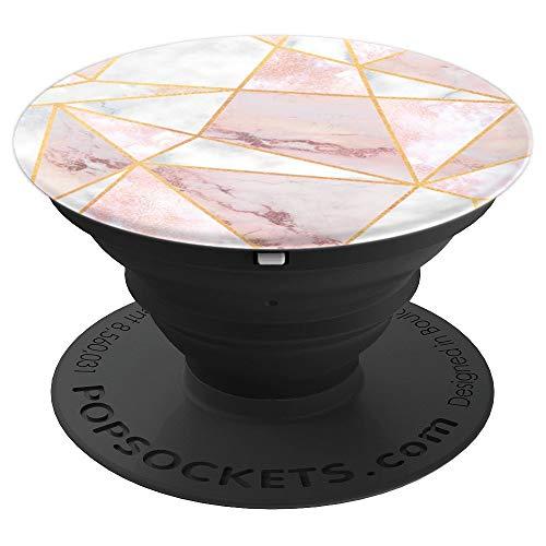Marble Geometric Pattern in Grey Pink - Marble