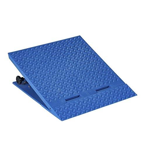 C-J-Xin Außenrollstuhlrampen, Einstellbare Höhe Curb Ramps Fahrrad Trolley Uphill Mat Größe: 50 * 56 * 13,5~22CM auffahrrampen (Color : Blue, Size : 50 * 56 * 13.5~22CM)