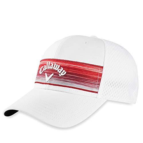 Callaway Golf Stripe Mesh Cap 2020 Einheitsgröße Weiß/Weiß/Rot