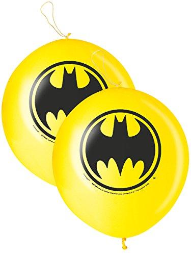 COOLMP – Lote de 3 globos punch-Ball Batman 40 cm – Talla única – Decoración y accesorios de fiesta, animación festiva, cumpleaños, bodas, eventos, juguetes, cotillón
