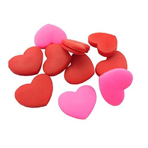 Heart Shaped Tennis Dampeners Durable Tennisschläger Vibrationsdämpfer Silikon Tennisschläger Vibrationsdämpfer Farbe Sortiert 6Pcs