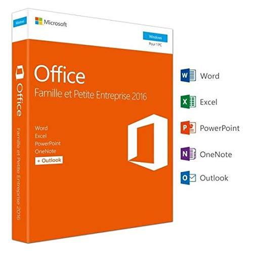 Microsoft Office Famille et Petite Entreprise 2016   PC   Box