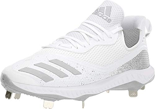 adidas mens Icon V Bounce Cleats Baseball Shoe, Ftwr White/Silver Met Ftwr White, 11.5 US