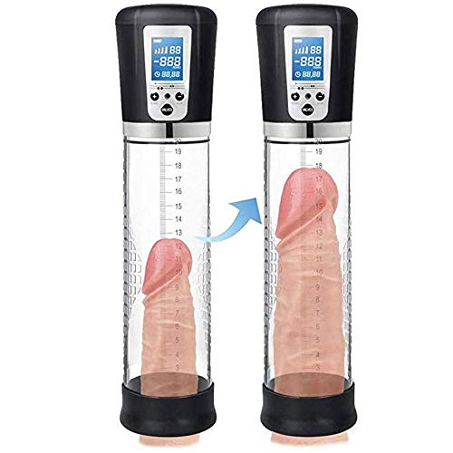 Best Deals! USB Charging Electric Men Vacuum Pump Peňňis Pump Stimulation Enlar-ger Strong Sucking Delay Training Male Body Play Device with LCD Display