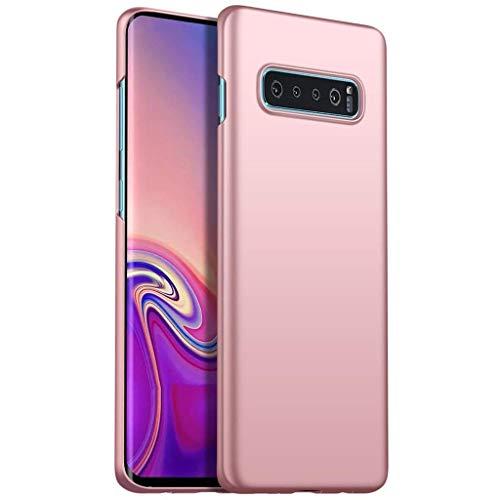 Capa Capinha Protetora Para Galaxy S10 Plus Tela De 6.4 Polegadas Case Acrílica Fosca Ultra Fina, Luxuosa Premium Super Diferente - Danet (Rosê)