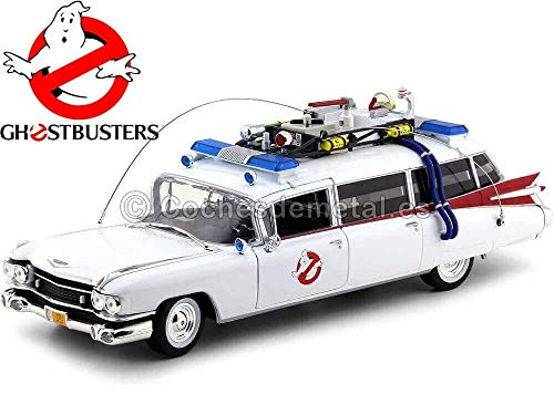 1959 Cadillac Ambulance Ecto-1 From 'Ghostbusters 1' Movie 1/18 Diecast Model Car by Autoworld AWSS118
