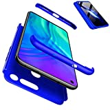 CIRRYS Coque Huawei Honor View 20/Honor V20 Étui 360° Housse PC Hard Shell Anti-Choc Full-Cover Case Scratch Pare-Chocs Casque de Protection +Protecteur d'écran -Bleu