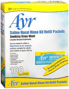 Ayr Saline Nasal Rinse Kit Refill Packets - 100...