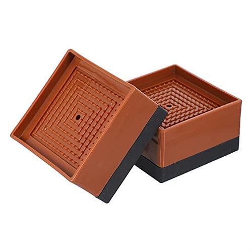 YZDKJ 4 unids Anti vibración pies Almohadilla Muebles Mesa de piernas de Aumento de la protección contra cojín Cubierta de Apoyo Amortiguador Stand Stand st Shirt sofá (Color : 4pcs Brown 8.5X5CM)