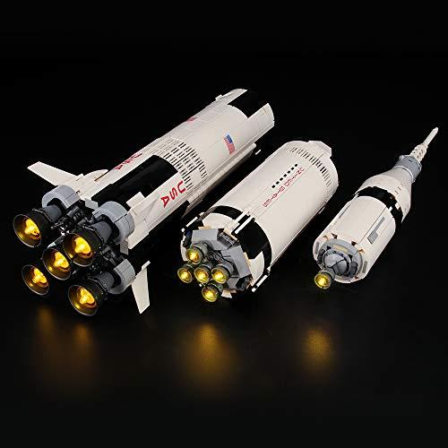LIGHTAILING Licht-Set Für (Ideas NASA Apollo Saturn V) Modell - LED Licht-Set Kompatibel Mit Lego 21309(Modell Nicht Enthalten)