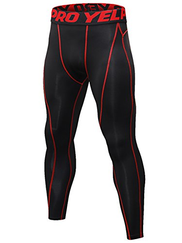 Yuerlian Herren Lauf-Leggings, Cool Dry Gym Tights für Männer, Kompressions-Basisschicht, Sport-Hose