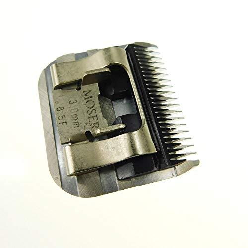 """Samsebaer Edition Moser """"Snap On"""" - Cabezal de corte, todos los tamaños, p. ej.: Moser Max 45+ max 50, Aesculap, Oster y Andis. Modelos según descripción (1/10, 1/20, 1, 2, 2.3, 2.5, 3, 5, 7, 9mm). 50F 40F 30F10F 10W 9F 8.5F 7F 5F 4F, 3 mm"""