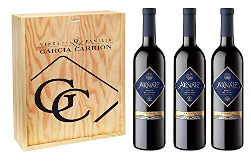 Viña Arnaiz Crianza D.O Ribera del Duero - Pack de 3 botellas x 75 cl, Volumen de Alcohol 14%