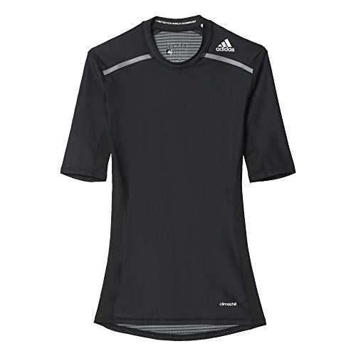 adidas Herren T-shirt Techfit Chill, Black, M