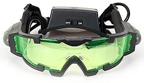 DMZK Nachtsichtbrille,LED Lampe Brille Nachtsichtgerät,Nachtbrille zum autofahren
