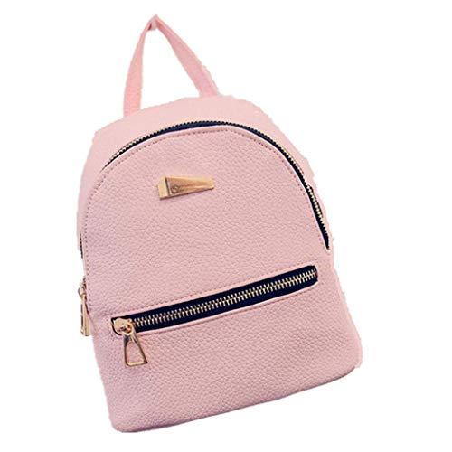 Linkay Damen Tasche, Handtasche Neuer HeißEr Verkauf Wild Lederrucksack UmhäNgetasche Reisetasche Rucksack Mode 2019-Rosa