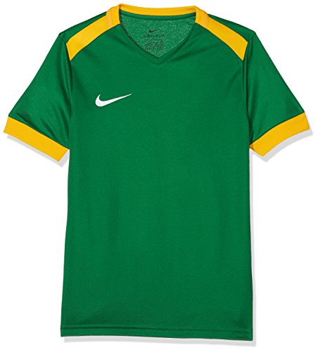 Nike Park Derby II Jersey SS Maillot Enfant Pine Green/University Gold/White FR: S (Taille Fabricant: S)