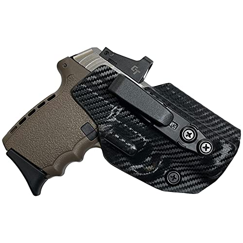 Inside The Waistband Belt Wing Tuckable Holster fits SCCY CPX-1 / CPX-2 (Carbon Fiber, Right-Hand Draw)