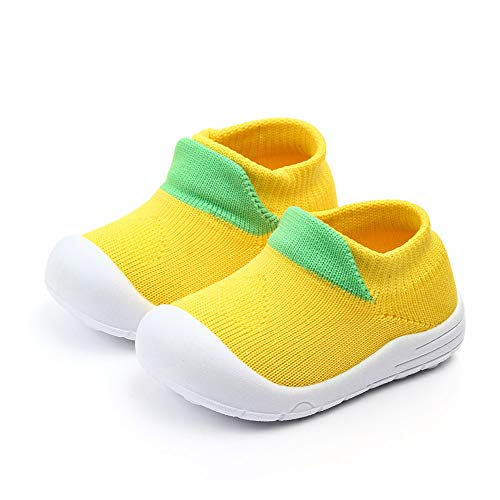 Zachte Katoen Kindersokken, Baby Kleur Blokkeren Niet-Zolen Binnen Gebreide Vloerschoenen Slipper Sokken - Zwart 15