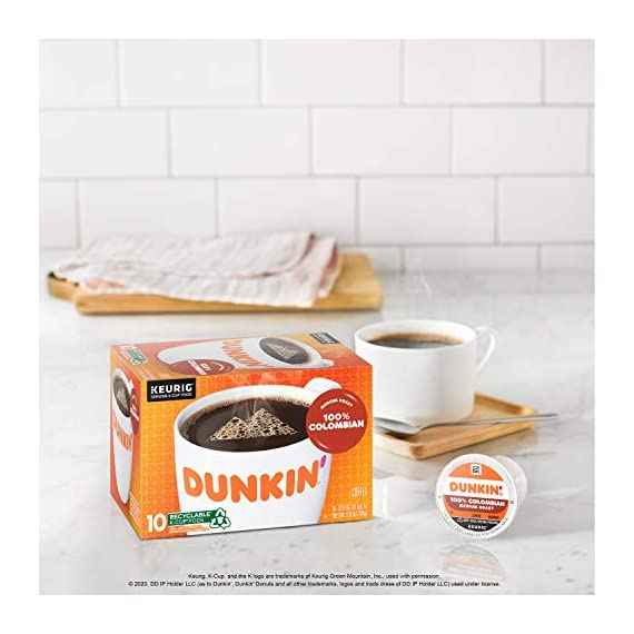 Dunkin' Best Sellers Coffee Variety Pack, 60 Keurig K-Cup Pods 7 Contains 4 boxes of 32 K-Cup pods (128 count total) Original Blend is the coffee that made Dunkin' famous, featuring a rich, smooth taste unmatched by others Medium roast coffee, specially blended and roasted to deliver the same great taste as the brewed Dunkin' coffee available in Dunkin' shops