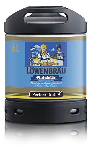 Bier PerfectDraft 1 x 6-Liter Fass Löwenbräu Oktoberfestbier Bier - Lager. Zapfanlage für Zuhause. Inklusive 5euros Pfand.