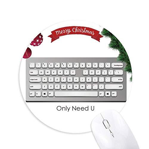Programmer Keyboard benötigt nur U Rundgummi Maus Pad Weihnachtsbaum Mat