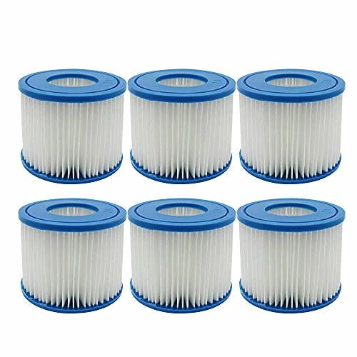 WuYan Cartucho de filtro de repuesto para bañera de hidromasaje Bestway para Flowclear Tamaño VI Cartucho de filtro de repuesto para Miami Vegas Palm Springs París (3 unidades individuales)