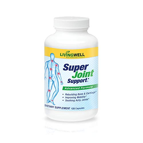 Glucosamine, Collagen, MSM & Chondroitin Joint Support Supplement for Joint Relief, Health & Comfort by Super Joint Support - Perfect for achy Knees and Hands. 120 Count