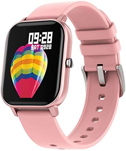 Reloj inteligente para hombre, con seguimiento de actividad física, presión arterial, frecuencia cardíaca, reloj inteligente para mujer, para Xiaomi IOS teléfono GTS (color: rosa)