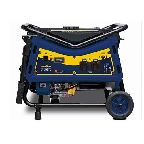 Goodyear Generador eléctrico gasolina , motor 4 Tiempos potencia máxima 3000 W, 3000 RPM, Arranque manual, 230 V