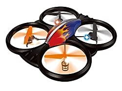 Haktoys® HAK909 Large 2.4GHz 4CH RC Quadcopter, 6 Axis Gyroscope, Rechargeable, Ready To Fly, Camera-Ready and with LED Lights - Colors May Vary 58% off