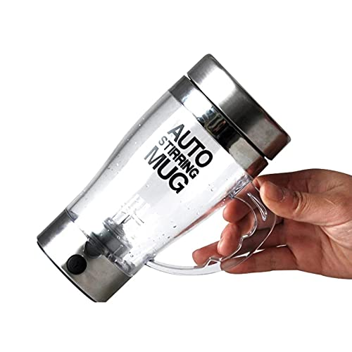 Elektrische selbstmischende 14-Unzen-transparente Tasse Edelstahl auslaufsicher, geeignet zum Mischen von Kaffee,...