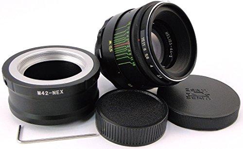 ヘリオス44-2 !!NEW!! HELIOS 44-2 58mm F2 Russian Lens + adapter E-Mount Sony NEX F3 5 5N 5R 5T 6 A 7...