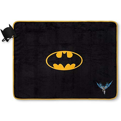 Batman Blanket with Character Mask