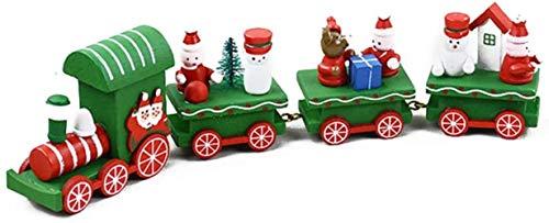 Geen geschenk versieren van de houten trein speelgoed for de No Kind Baby Sneeuwman Kerstman versieren van de kamer - Wit, Maat: ??? Green